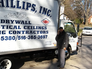 J.P. Phillips Truck with employee